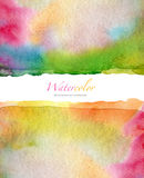 Abstract watercolor and acrylic painted background. Royalty Free Stock Photography