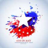 Abstract watercolor american flag for 4th of july. Vector Royalty Free Stock Images