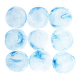Abstract watercolor aquarelle hand draw circle Stock Photo