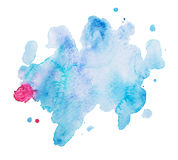 Abstract watercolor aquarelle hand drawn art paint Royalty Free Stock Images