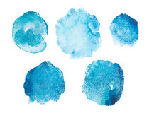 Abstract watercolor aquarelle hand drawn blue art Royalty Free Stock Images
