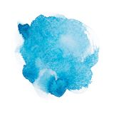 Abstract watercolor aquarelle hand drawn blue art Stock Photo