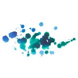 Abstract watercolor aquarelle hand drawn blue drop Stock Photo