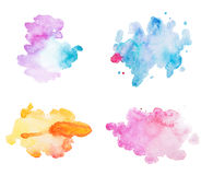 Abstract watercolor aquarelle hand drawn colorful Stock Images