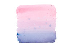 Abstract watercolor aquarelle hand drawn colorful shapes art paint splatter stain on white background.  royalty free stock photography