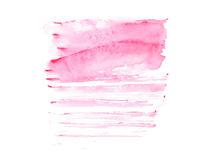 Abstract watercolor aquarelle hand drawn colorful shapes art paint splatter stain on white background.  Stock Photo