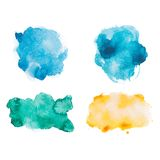 Abstract watercolor aquarelle hand drawn colorful stock illustration