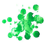 Abstract watercolor aquarelle hand drawn green Stock Photos