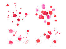 Abstract watercolor aquarelle hand drawn red blood Royalty Free Stock Photography