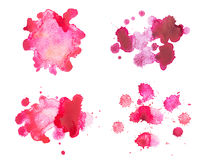 Abstract watercolor aquarelle hand drawn red blood Royalty Free Stock Image