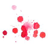 Abstract watercolor aquarelle hand drawn red blood Stock Photography