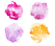 Abstract watercolor aquarelle hand drawn red pink Royalty Free Stock Photos