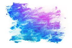 Abstract watercolor aquarelle paint hand drawn colorful splatter stain Royalty Free Stock Photos