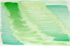Abstract watercolor art hand paint green color, Watercolor background.  Royalty Free Stock Photo