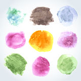 Abstract watercolor art hand paint isolated on white background. Watercolor stains. Vector Royalty Free Stock Photo