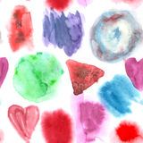 Abstract watercolor art hand paint seamless pattern on white background Royalty Free Stock Photos