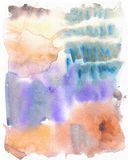 Abstract watercolor art hand paint. Soft colored abstract background for design. Grunge painting background, colorful illustration Stock Images