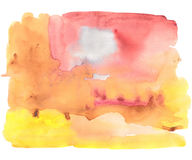 Abstract watercolor art hand paint. Watercolor texture. Gouache stains, blots, spots. Stock Image