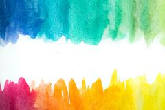 Abstract watercolor art hand paint on white background. Watercolor background.  stock illustration