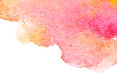 Abstract watercolor art hand paint Stock Photo