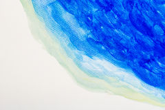 Abstract watercolor art on white background Stock Photos