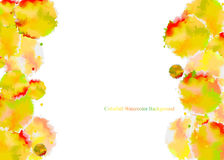 Abstract watercolor background. Abstract  orange and white watercolor background Stock Photography