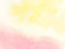Abstract watercolor background. Abstract yellow and pink watercolor background Stock Photo