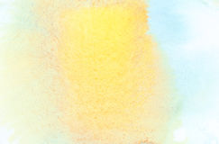 Abstract watercolor background. Abstract yellow, blue watercolor background Stock Images