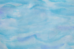 Abstract Watercolor Background in Aqua Royalty Free Stock Image