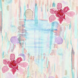 Abstract watercolor background with azalea flowers, stripes, str Stock Image