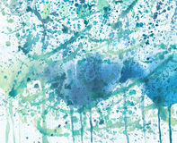 Abstract watercolor background with blots. Royalty Free Stock Photography