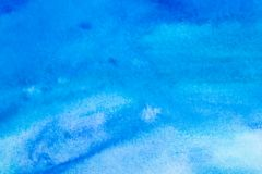 Abstract watercolor background - blue Royalty Free Stock Photo