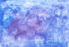 Abstract watercolor background in blue colors. Abstract watercolor texture for background in shades of blue Stock Photography