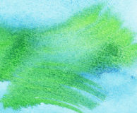 Abstract watercolor background. Abstract blue and green brush strokes.  Watercolor background Stock Photo