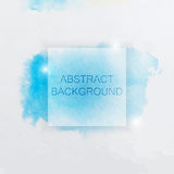 Abstract Watercolor Background with Blue Splash and Square Royalty Free Stock Photos