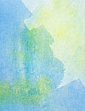 Abstract watercolor background. Abstract blue, yellow watercolor background Royalty Free Stock Images