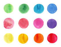 Abstract watercolor background circles Royalty Free Stock Photos