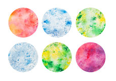 Abstract watercolor background circles. Raster image. Ideal for any design, sites, brochures, sales, banners etc royalty free illustration