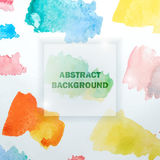 Abstract Watercolor Background with Colorful Splashes. Vector Illustration of Abstract Watercolor Background Royalty Free Stock Photos