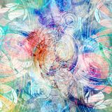 Abstract watercolor background with colorful wave. Abstract watercolor bright background with different colorful wave elements Stock Image