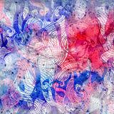 Abstract watercolor background with colorful wave. Abstract watercolor bright background with different colorful wave elements Stock Images