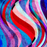 Abstract watercolor background with colorful wave Royalty Free Stock Photography