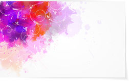 Abstract watercolor background with florals Stock Photography