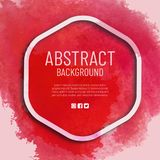 Abstract watercolor background with frame stock illustration