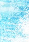 Abstract watercolor background. Grange light blue blots. Hand drawn on a textured paper.  vector illustration