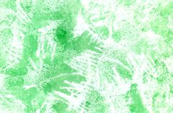 Abstract watercolor background in green colors. Green grunge spots stock illustration