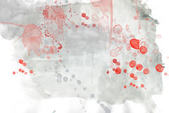 Abstract watercolor background. Abstract grey and red watercolor background Royalty Free Stock Image