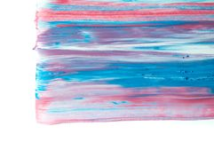 Abstract watercolor background, hand painted brush stroke. Abstract watercolor background, hand free painting. Created in Chiang Rai, Thailand Royalty Free Stock Images