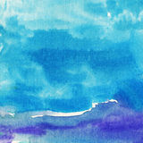 Abstract watercolor background. Hand made watercolor inspired by summer, seaside landscape royalty free illustration