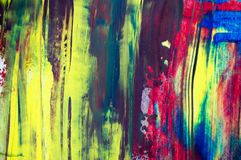 Abstract watercolor background, hand painted brush stroke. Abstract watercolor background, hand free painting. Created in Chiang Rai, Thailand Royalty Free Stock Photography